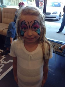 kids face painting at GO